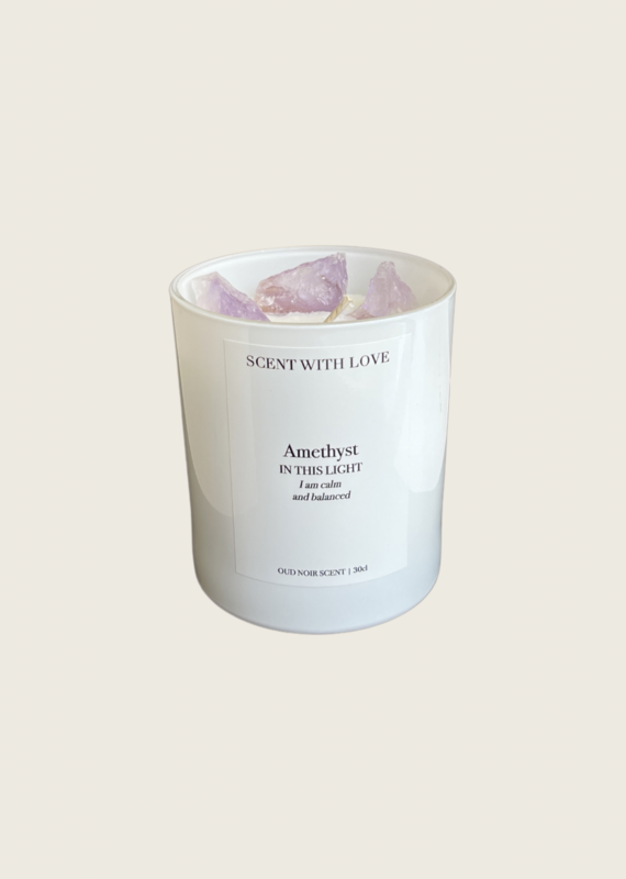 Scent With Love Amethyst // Oud Noir - Wit