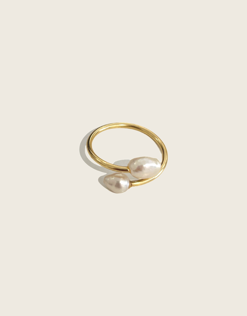 IBU JEWELS Ibu Jewels Ring // Double Pearl - RL