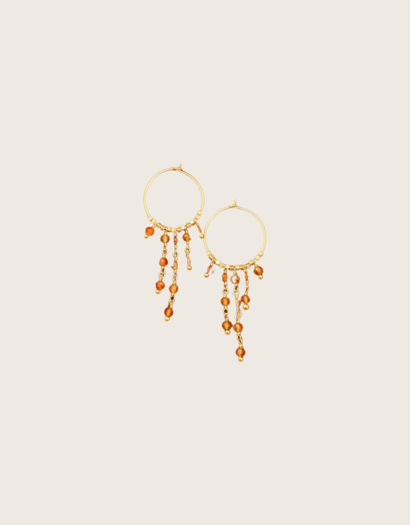 IBU JEWELS IBU JEWELS Earring // Dancy Stone Hoop - EK06