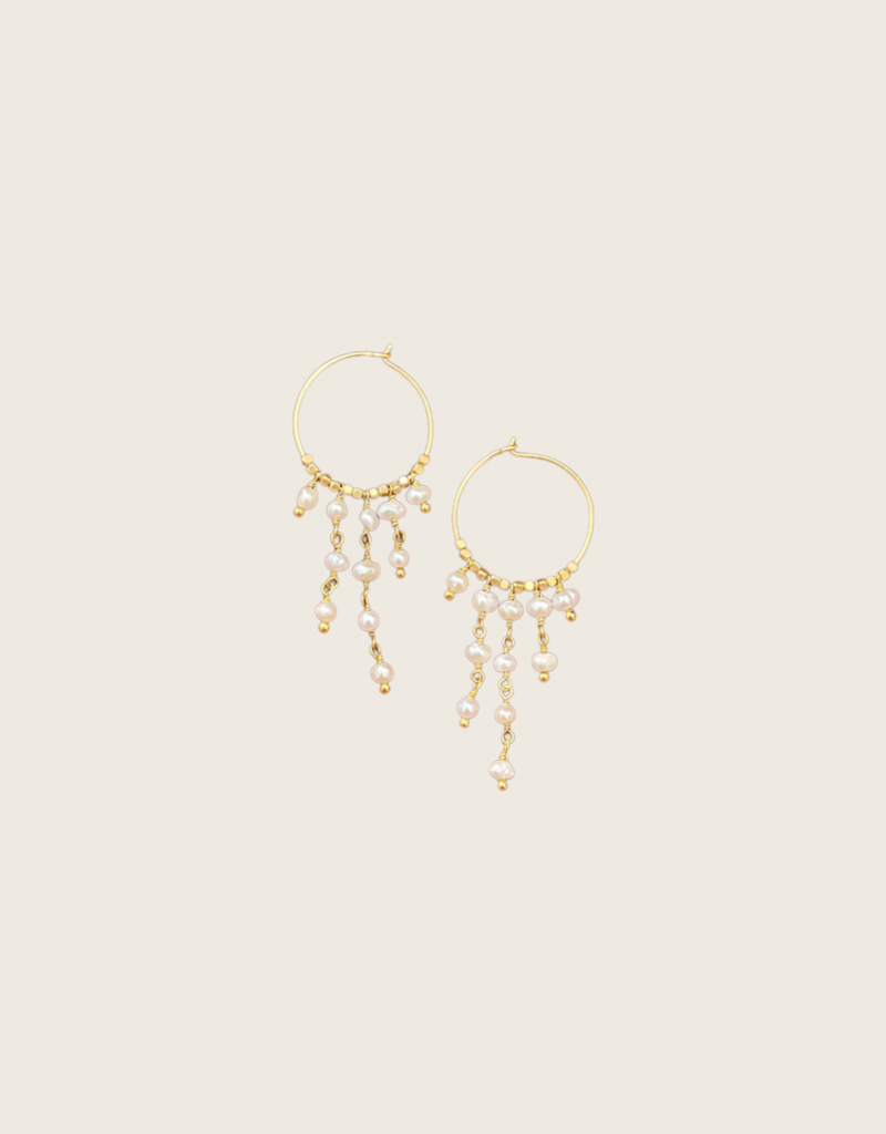 IBU JEWELS IBU JEWELS Earring // Dancy Stone Hoop - EK05