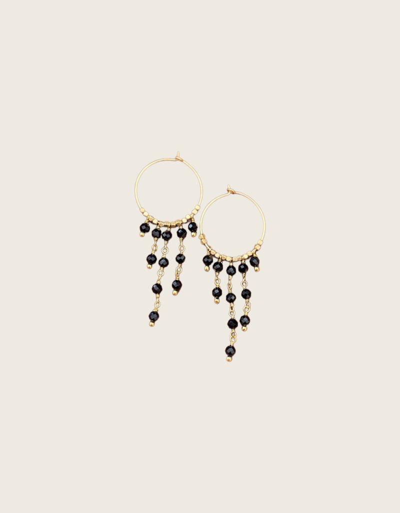 IBU JEWELS IBU JEWELS Earring // Dancy Stone Hoop - EK01