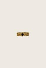 IBU JEWELS Ring - Gold Wave Zwart
