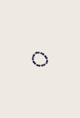 IBU JEWELS Ring - Stone Dot Blauw