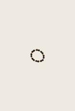 IBU JEWELS Ring - Stone Dot Zwart