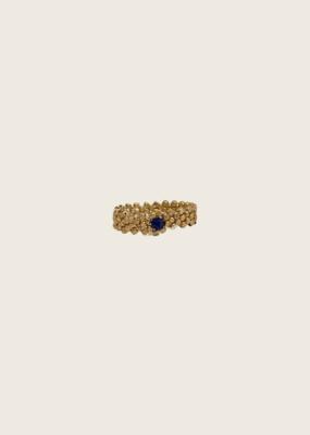 IBU JEWELS Ring - Gold Wave Blauw