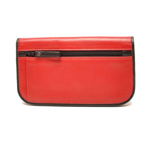 Berba Dames portemonnee Berba Soft rood zwart