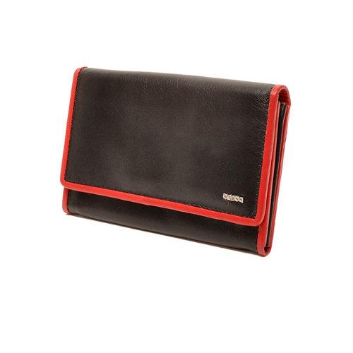 Berba Dames portemonnee Berba Soft zwart rood