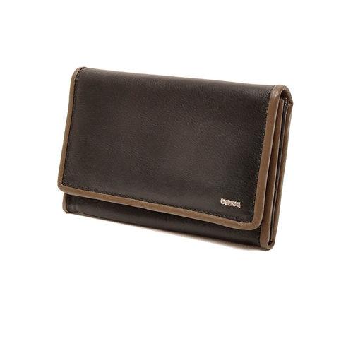 Berba Dames portemonnee Soft zwart taupe