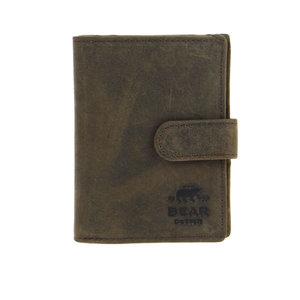 Bear Design Pasjeshouder met papier- en muntvak