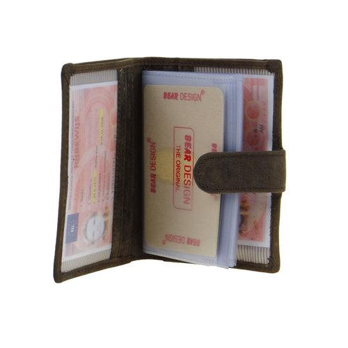Bear Design Pasjeshouder Bear Design met papiergeld- en muntvak