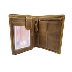 LD Leather Design Billfold portemonnee hunter leer