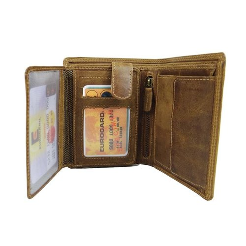 LD Leather Design Billfold portemonnee LD hunter leer