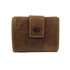 LD Leather Design Billfold portemonnee met afsluitlip