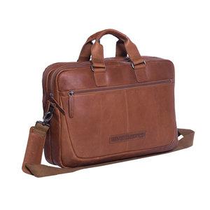 The Chesterfield Brand Laptoptas Seth cognac 15,6 inch