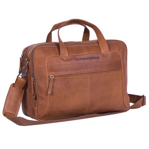 The Chesterfield Brand Laptoptas Ryan cognac 17 inch