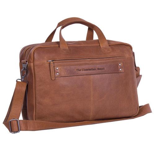 The Chesterfield Brand Laptoptas Chesterfield Ryan cognac 17 inch