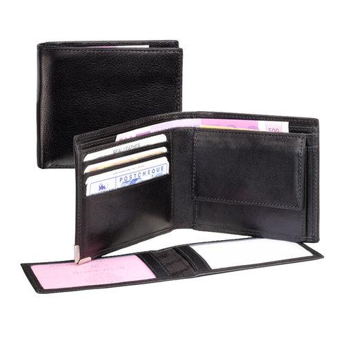 dR Amsterdam Heren portemonnee met uitneembaar pasjesvak
