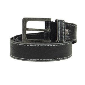 Hill Burry Leren riem zwart stiksel 4 cm