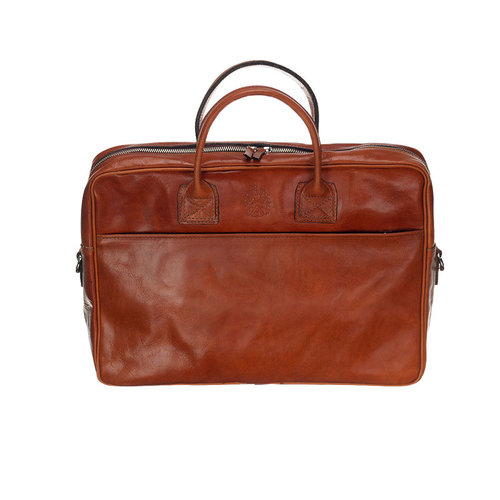 Mutsaers Laptoptas Sleeve Plus cognac 15,6 inch