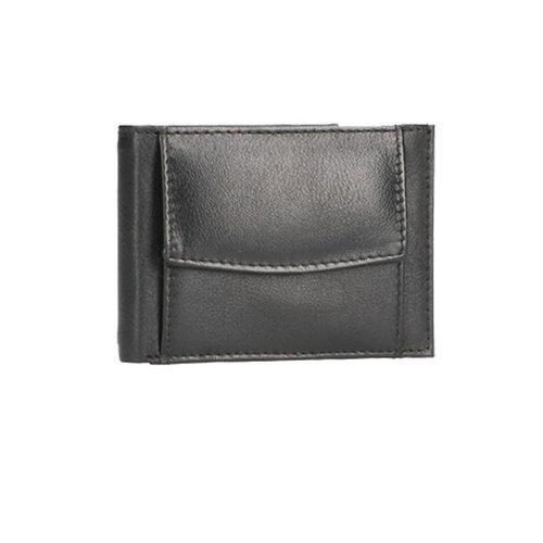 LD Leather Design Heren portemonnee muntvak aan buitenkant