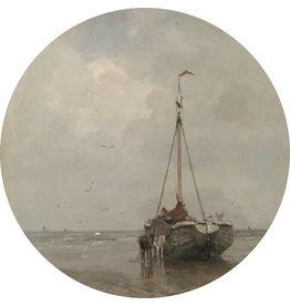 Dunnebier Home Muursticker Zeilboot op het Wad Rijksmuseum