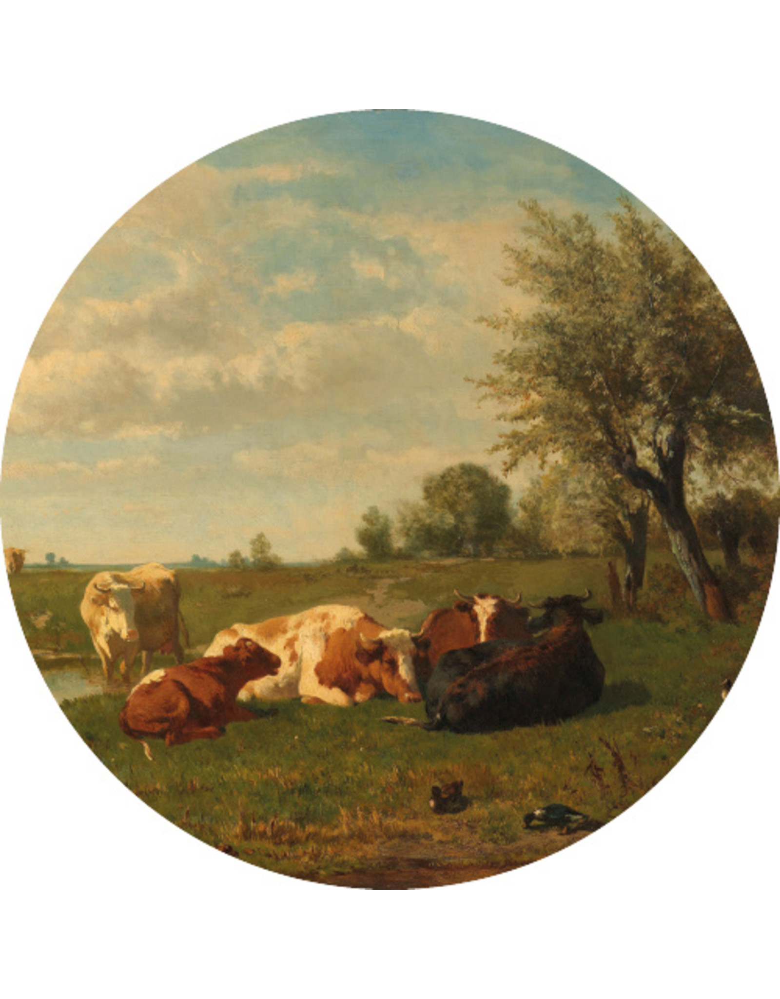 Dunnebier Home Muursticker Koeien in de wei Rijksmuseum - verwijderbaar