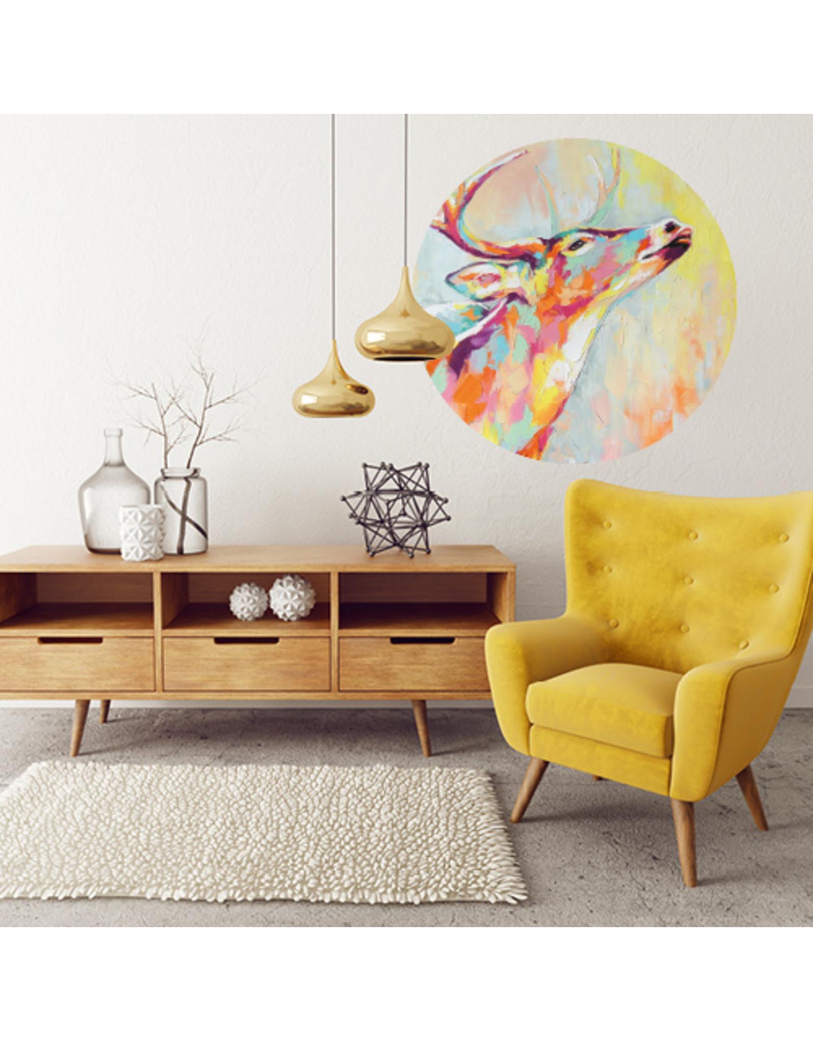 Dunnebier Home Muursticker Hert schilderij - verwijderbaar