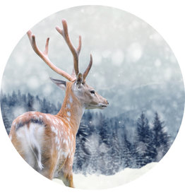 Dunnebier Home Muursticker Hert in de sneeuw
