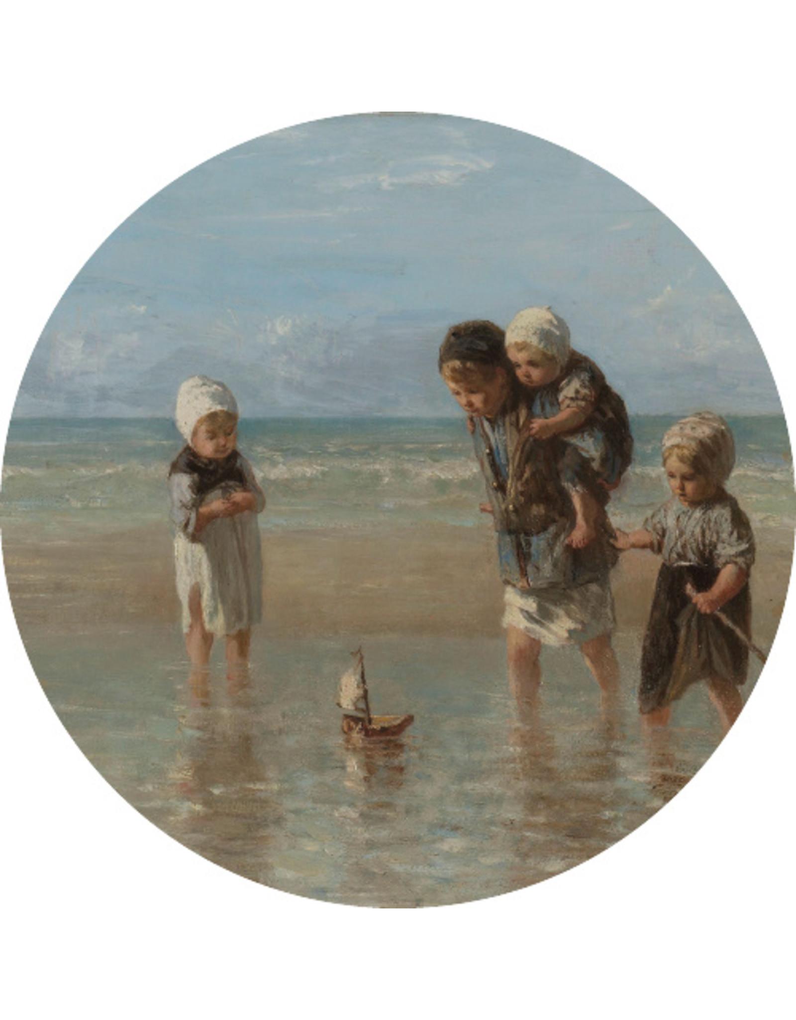 Dunnebier Home Muursticker Kinderen op het strand - Rijksmuseum - verwijderbaar