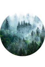 Dunnebier Home Muursticker Bos in de mist - verwijderbaar