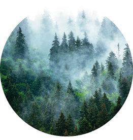Dunnebier Home Muursticker Bos in de mist