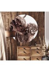 Dunnebier Home Muursticker Schotse hooglander met kalf - verwijderbaar