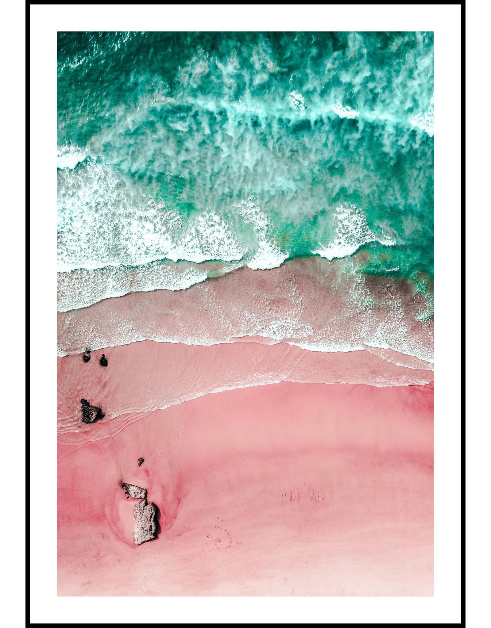 Dunnebier Home Poster Strand roze en blauw