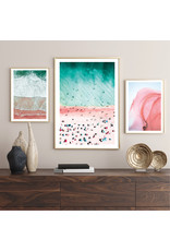Dunnebier Home Poster Strand roze en blauw No3