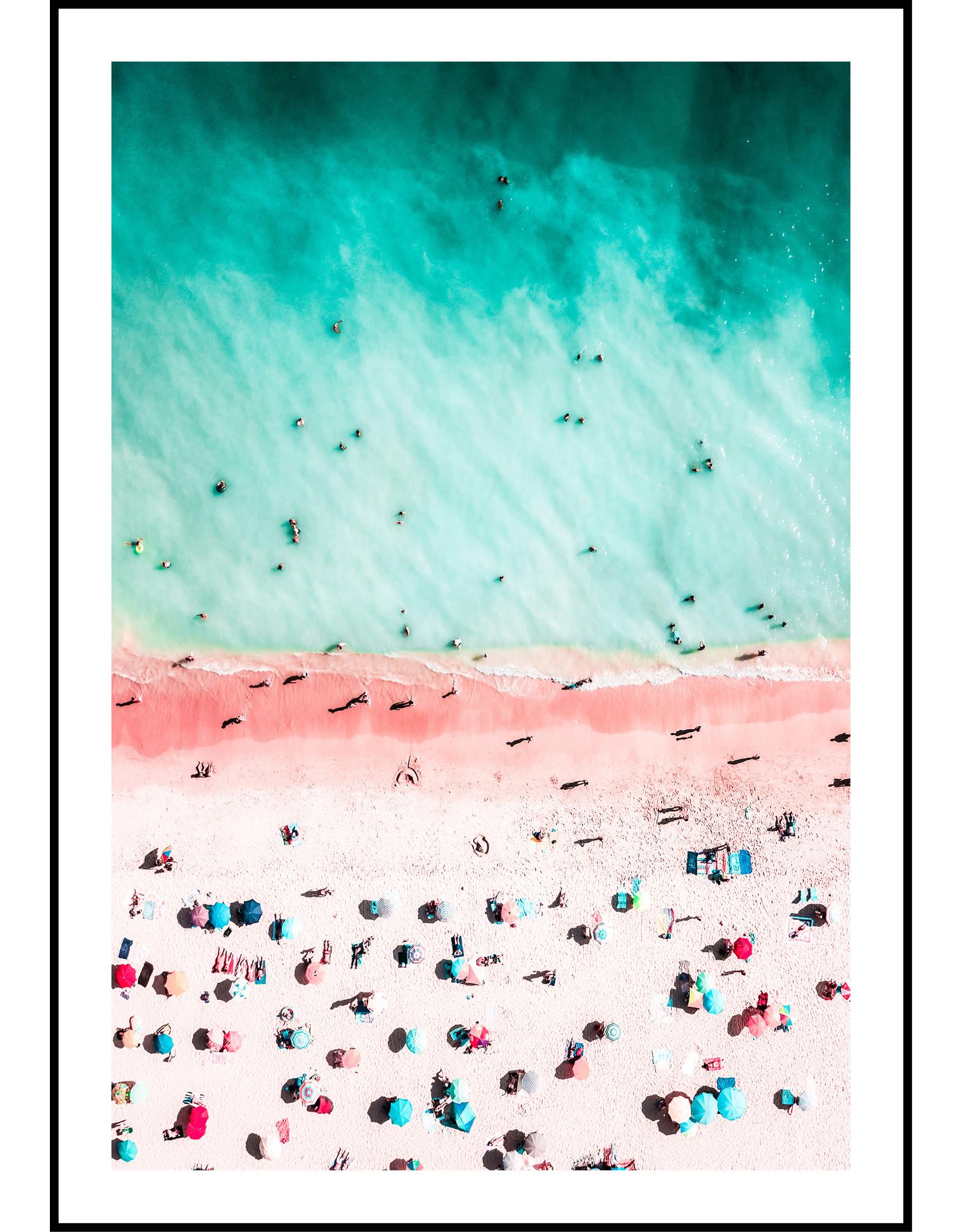 Dunnebier Home Poster Strand roze en blauw No2