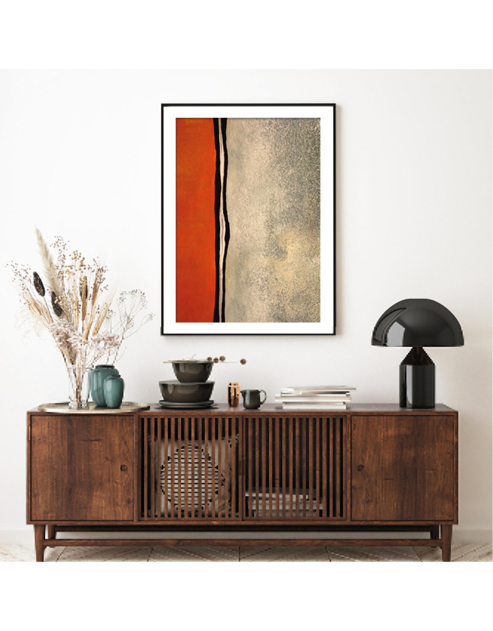 Dunnebier Home Poster Oranje en groene structuur