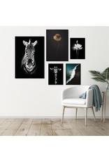 Dunnebier Home Poster Giraffe zwart