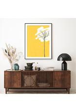 Dunnebier Home Poster Boom op gele achtergrond