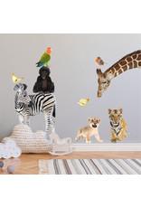 Dunnebier Home Muursticker- set Dierenvriendjes Wildernis L - verwijderbaar