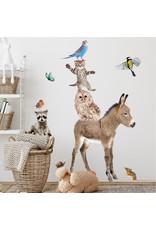 Dunnebier Home Muursticker- set Dierenvriendjes Bos M - verwijderbaar