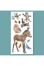 Dunnebier Home Muursticker- set Dierenvriendjes Bos L - verwijderbaar