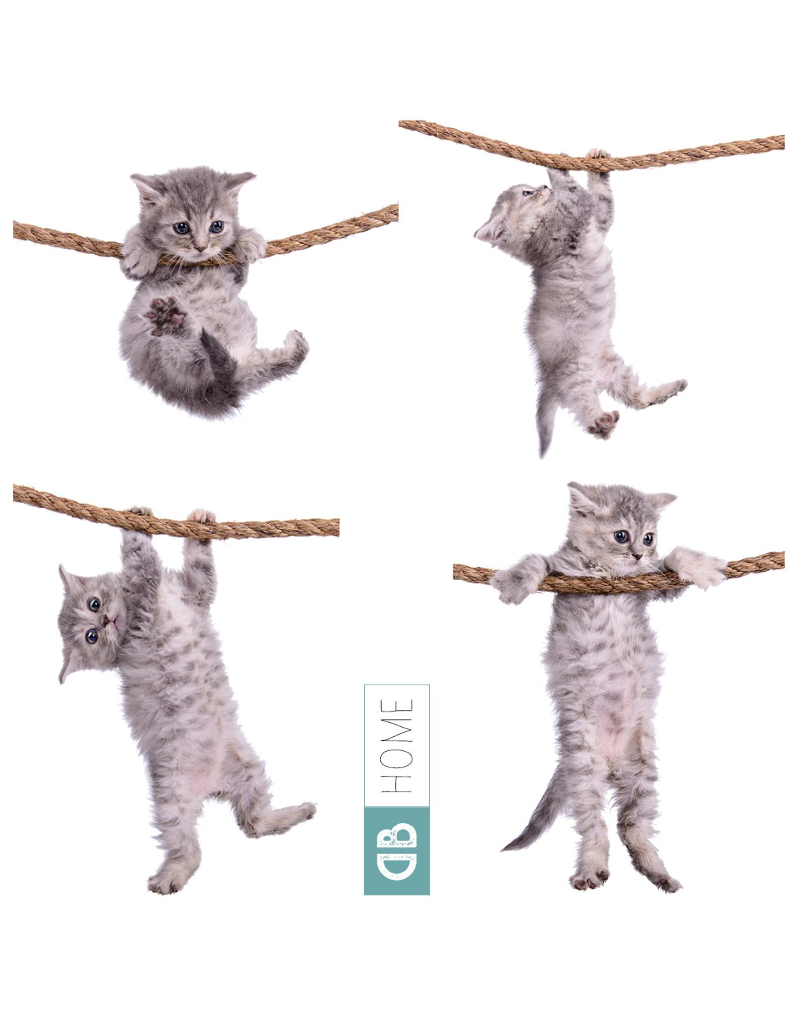 Dunnebier Home Muursticker-set Kittens - verwijderbaar