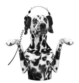 Dunnebier Home Muursticker Dalmatier met koptelefoon