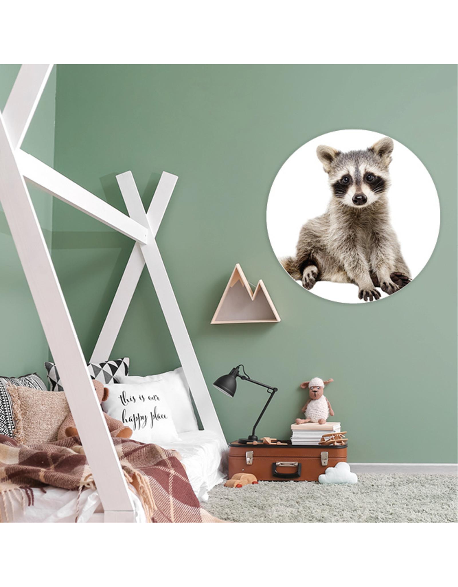 Dunnebier Home Muursticker Wasbeer - verwijderbaar