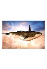 Dunnebier Home Poster Vrouw op een vliegende walvis