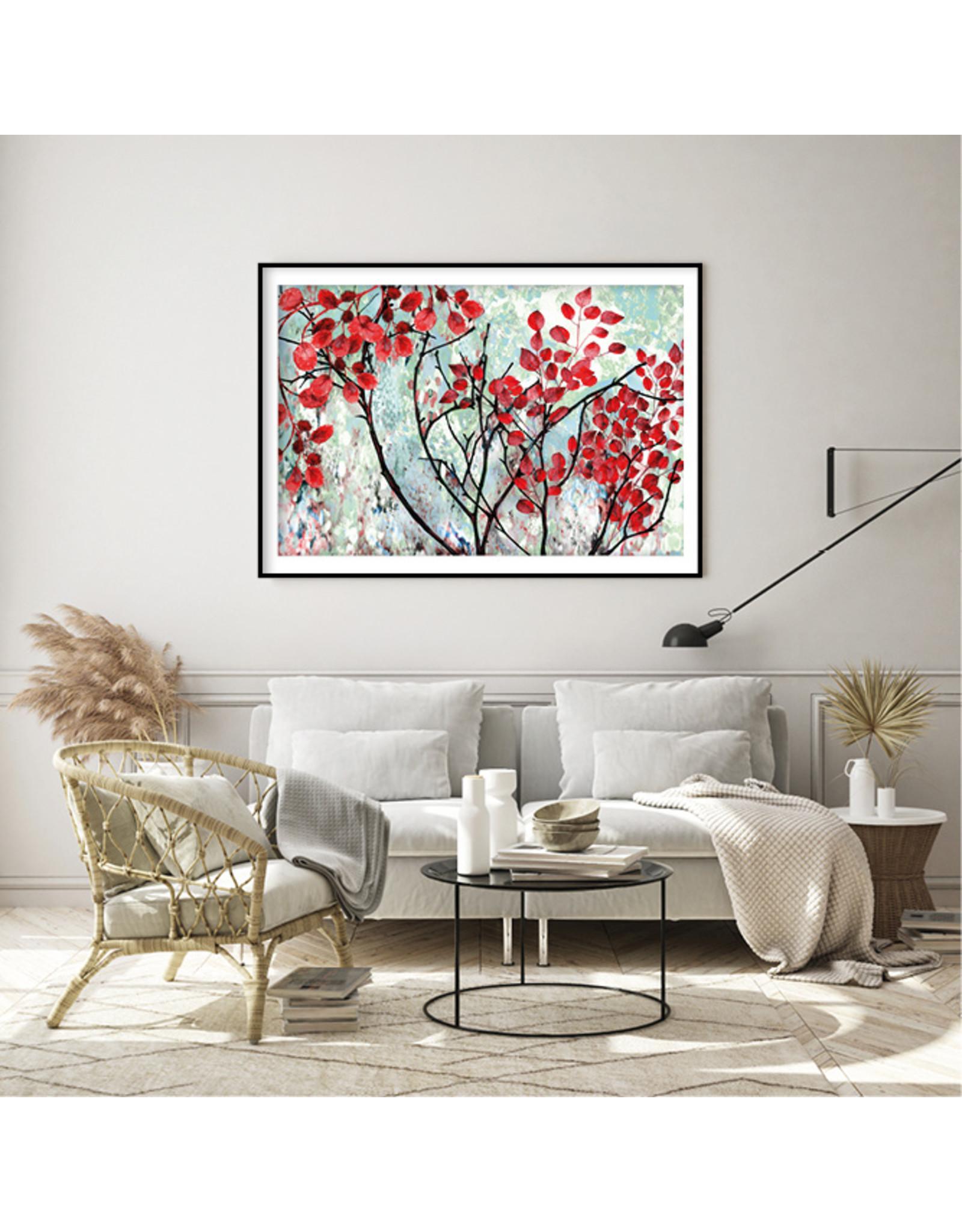 Dunnebier Home Poster Boom met rode bladeren