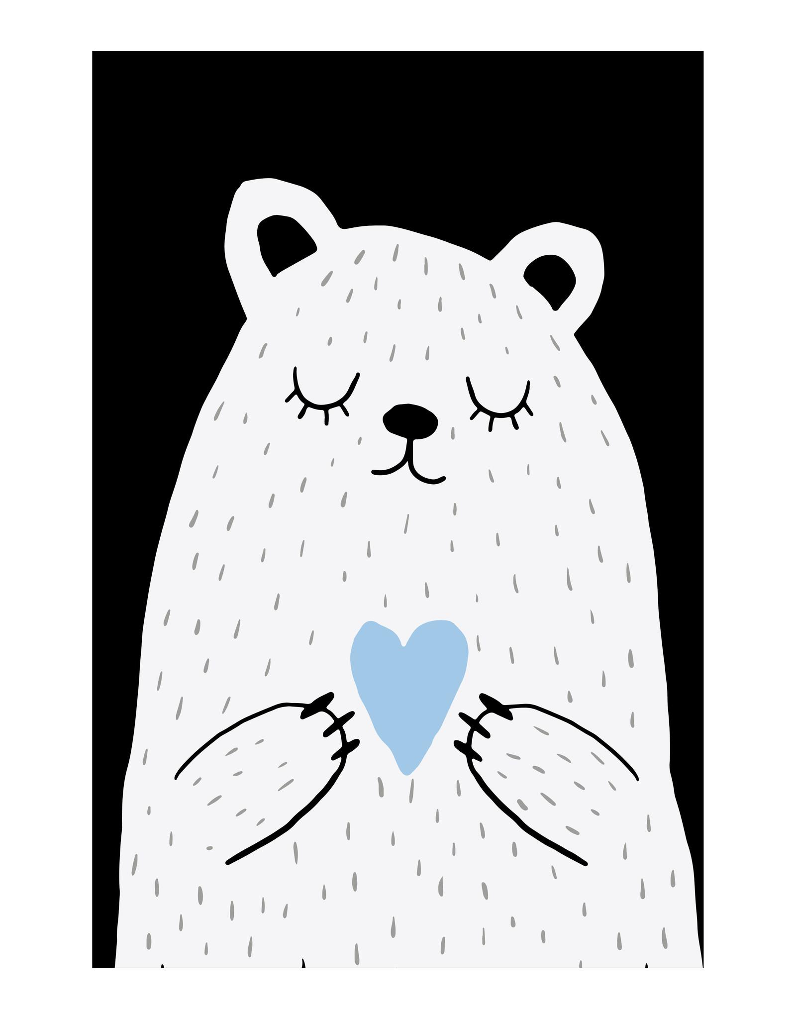 Dunnebier Home Poster Beer met blauw hart