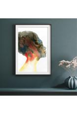 Dunnebier Home Poster Aquarel van een vrouw En Profil_No3
