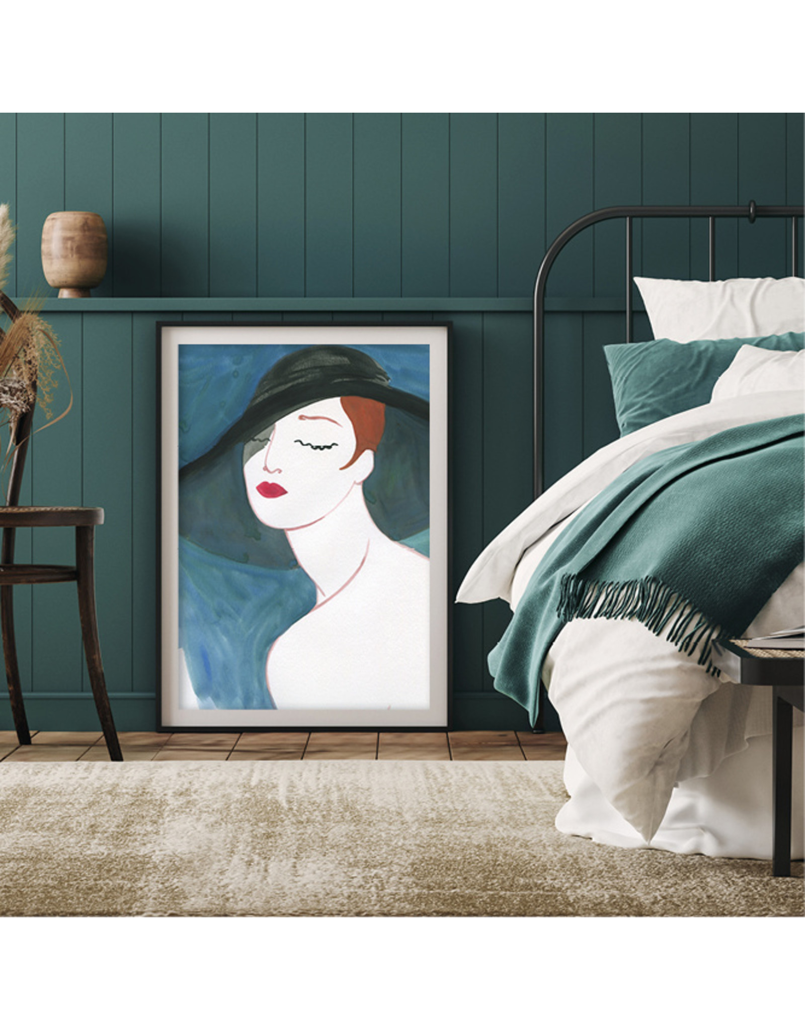 Dunnebier Home Poster Vrouw met hoed