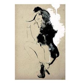 Dunnebier Home Poster Tekening van een zittende vrouw